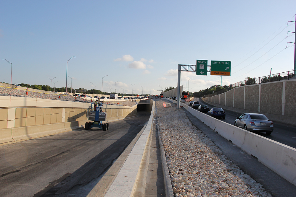 Nearing completion of northbound express lane underpass - July 19, 2017
