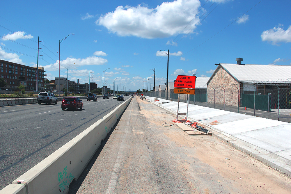 Widening of southbound MoPac near Camp Mabry - July 19, 2017